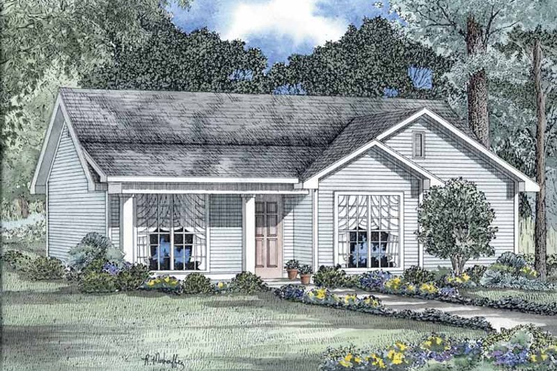 House Plan Design - Country Exterior - Front Elevation Plan #17-2726