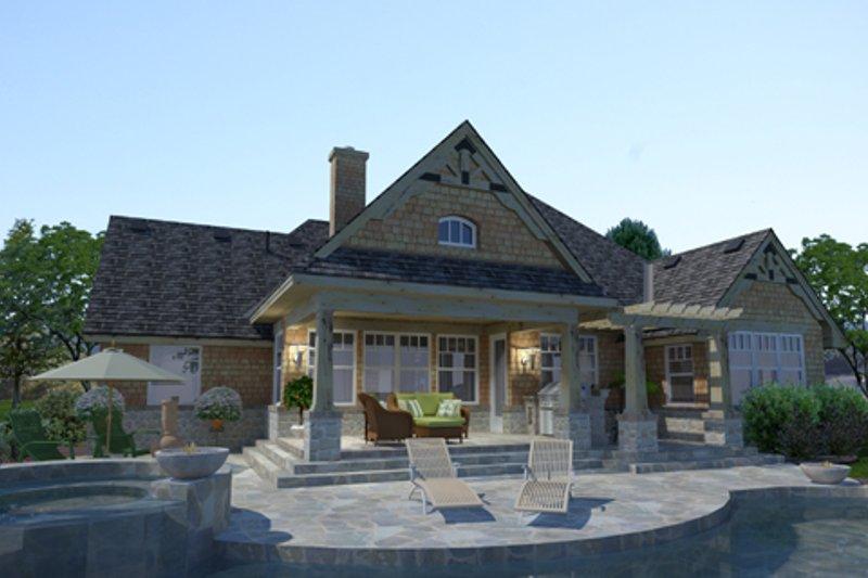 House Design - Craftsman Exterior - Rear Elevation Plan #120-176