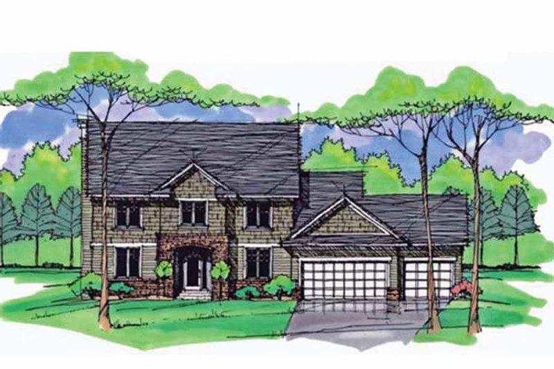 Colonial Exterior - Front Elevation Plan #51-1008 - Houseplans.com