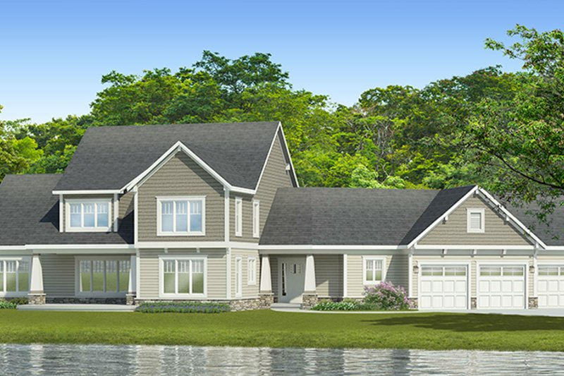 Traditional Exterior - Front Elevation Plan #1010-188 - Houseplans.com
