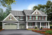 Dream House Plan - Craftsman Exterior - Front Elevation Plan #132-369