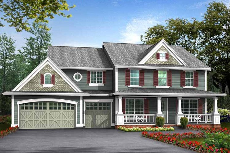 Craftsman Exterior - Front Elevation Plan #132-369 - Houseplans.com