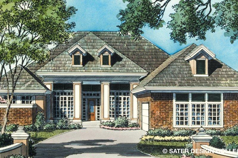 Dream House Plan - Prairie Exterior - Front Elevation Plan #930-85