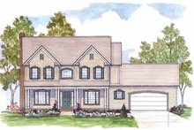 Traditional Exterior - Front Elevation Plan #435-25