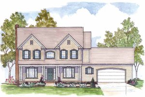 Home Plan - Traditional Exterior - Front Elevation Plan #435-25