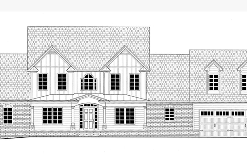 Front Elevation Of Bathtub : Farmhouse style house plan beds baths sq ft