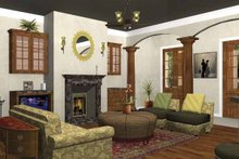 Architectural House Design - Traditional Interior - Family Room Plan #44-207