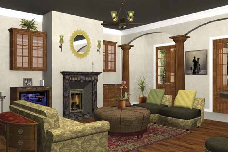 Traditional Interior - Family Room Plan #44-207 - Houseplans.com