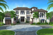 Beach Exterior - Front Elevation Plan #27-541