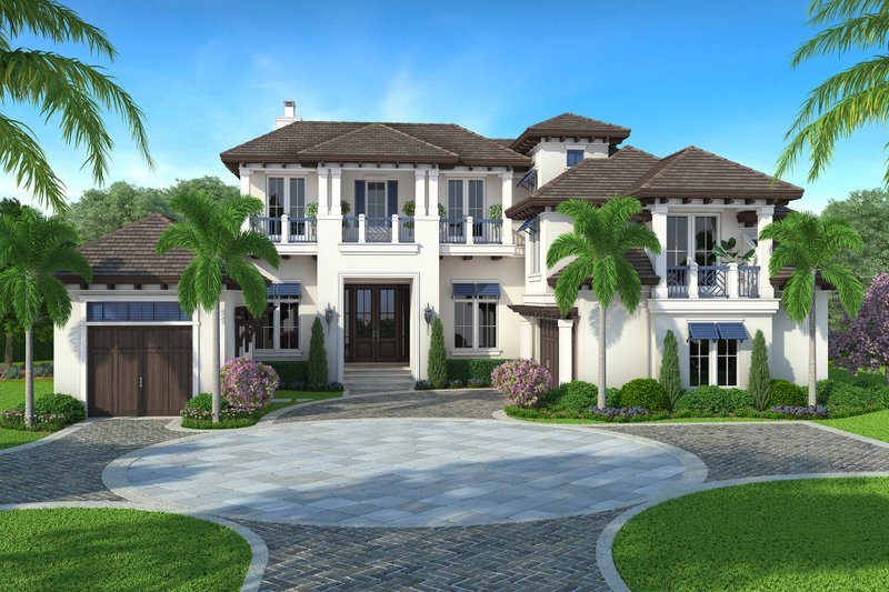 Beach Exterior - Front Elevation Plan #27-541