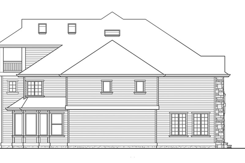 Classical Exterior - Other Elevation Plan #132-512 - Houseplans.com