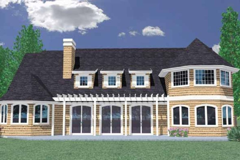Traditional Exterior - Rear Elevation Plan #509-383 - Houseplans.com