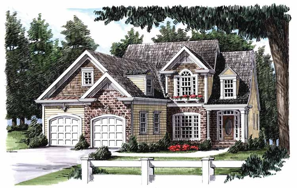 Country Exterior Front Elevation Plan 927 824