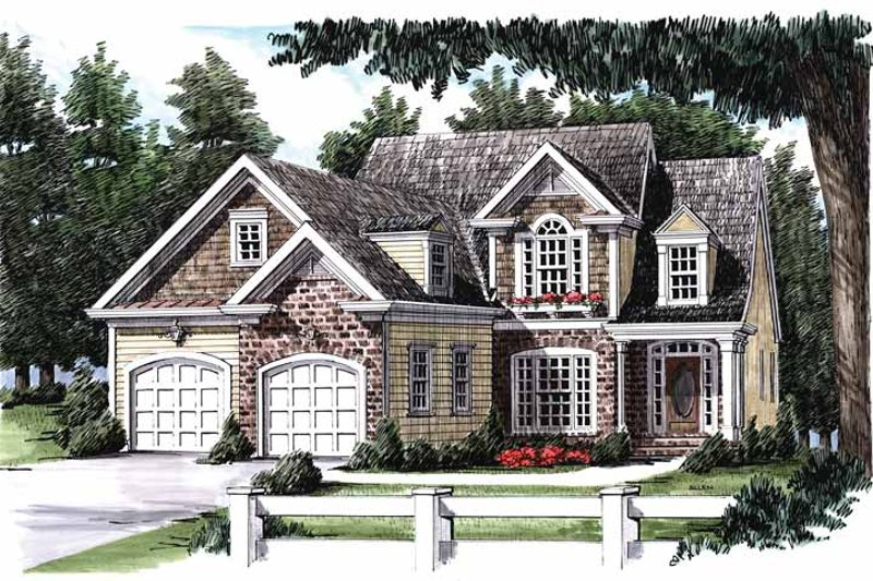 Country Exterior - Front Elevation Plan #927-824