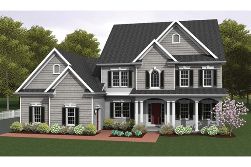 Architectural House Design - Colonial Exterior - Front Elevation Plan #1010-35