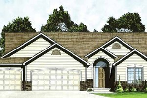 Dream House Plan - Traditional Exterior - Front Elevation Plan #58-233