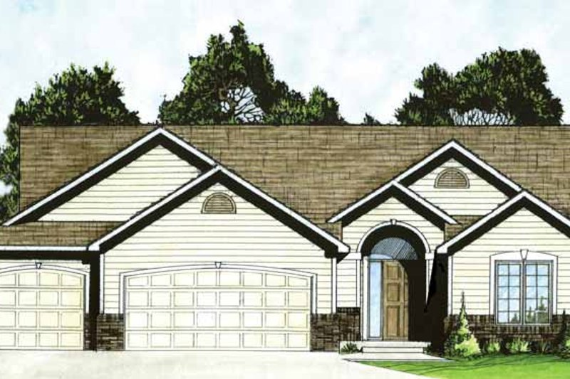 Home Plan - Traditional Exterior - Front Elevation Plan #58-233