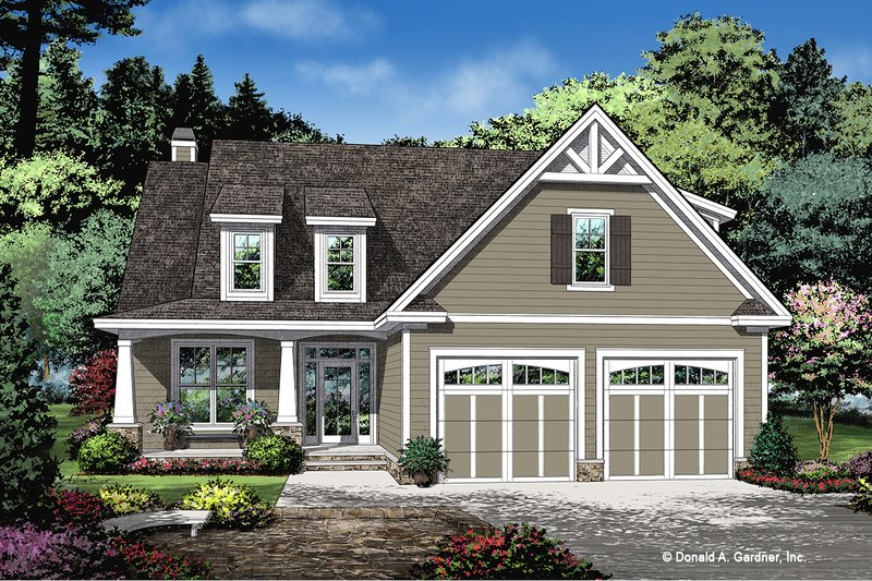 Cottage Exterior - Front Elevation Plan #929-1104