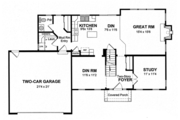 Colonial Style House Plan - 4 Beds 2.5 Baths 2089 Sq/Ft Plan #316-291 Floor Plan - Main Floor Plan