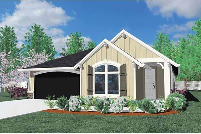 Traditional Exterior - Front Elevation Plan #509-256 - Houseplans.com