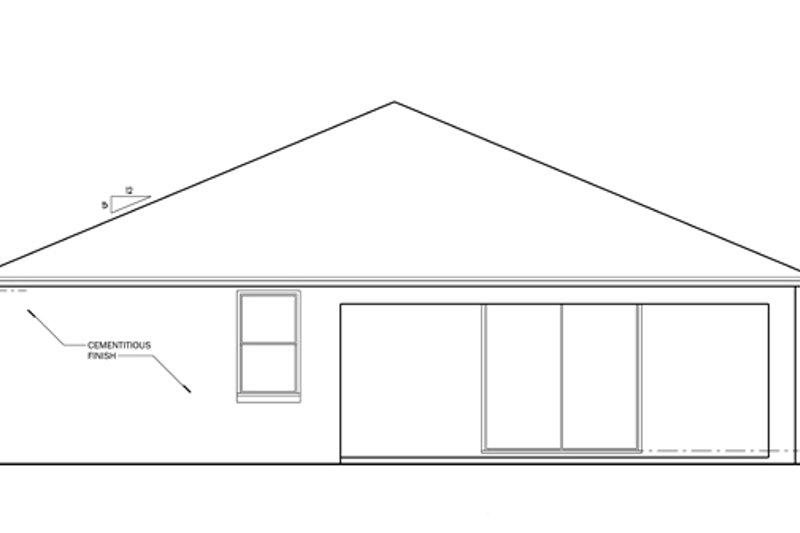 Craftsman Exterior - Rear Elevation Plan #1058-60 - Houseplans.com