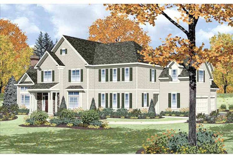 Traditional Exterior - Front Elevation Plan #328-457 - Houseplans.com