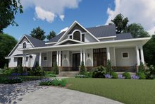 Dream House Plan - Farmhouse Exterior - Front Elevation Plan #120-257