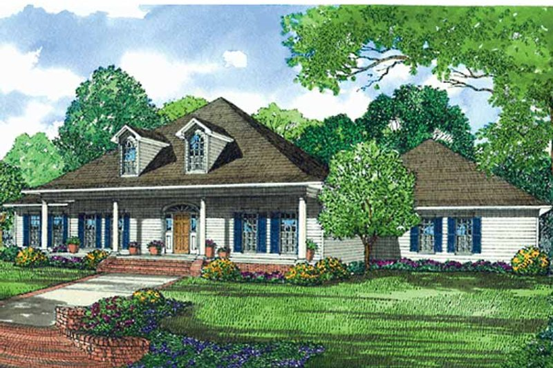 Classical Exterior - Front Elevation Plan #17-3099 - Houseplans.com