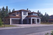 Modern Style House Plan - 4 Beds 4.5 Baths 3414 Sq/Ft Plan #1066-11 Exterior - Front Elevation