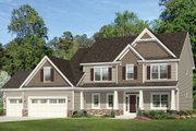 Traditional Style House Plan - 4 Beds 2.5 Baths 2665 Sq/Ft Plan #1010-158 Exterior - Front Elevation