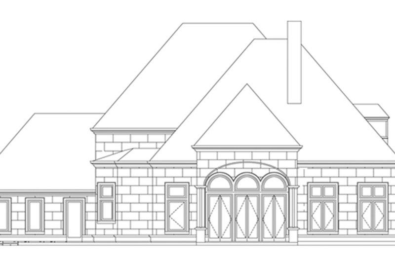 European Exterior - Rear Elevation Plan #119-417 - Houseplans.com