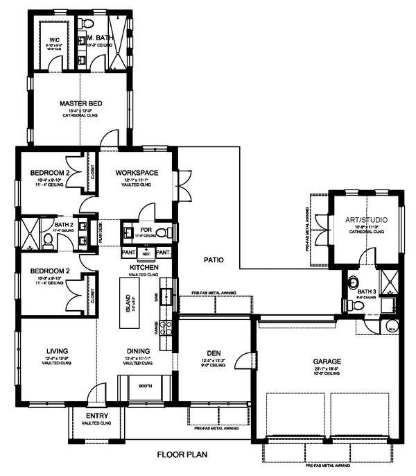 House Plan Design - Modern Floor Plan - Main Floor Plan #1058-171