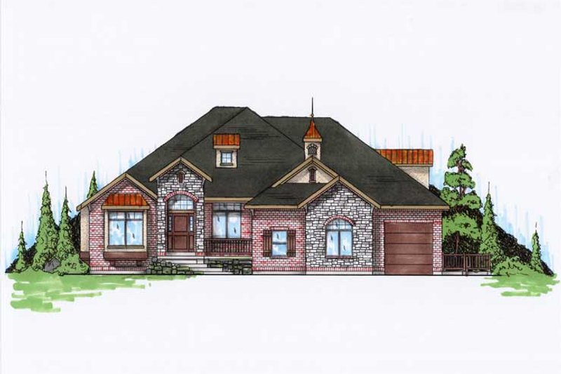 Traditional Style House Plan - 7 Beds 4.5 Baths 3280 Sq/Ft Plan #5-458 Exterior - Front Elevation