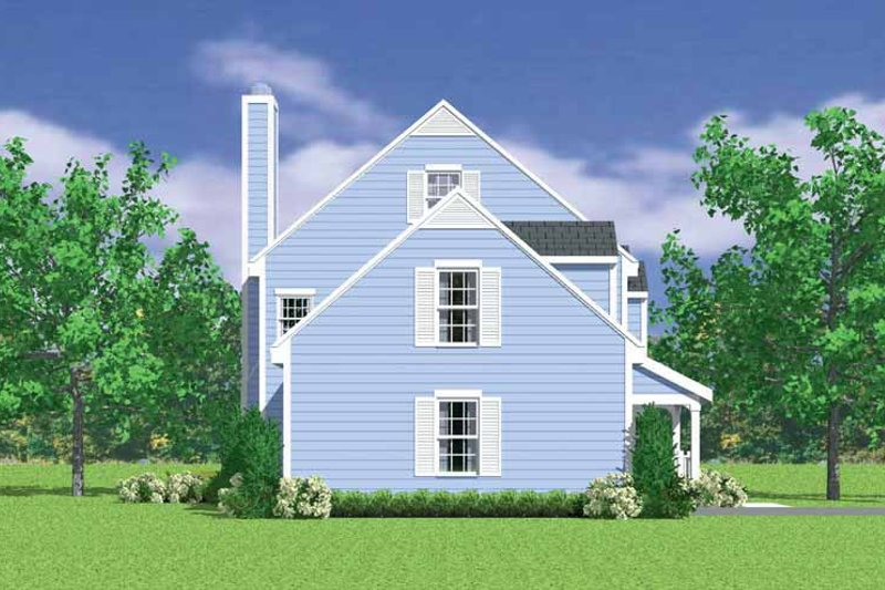 Country Exterior - Other Elevation Plan #72-1105 - Houseplans.com