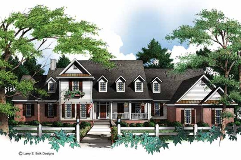 Country Exterior - Front Elevation Plan #952-240