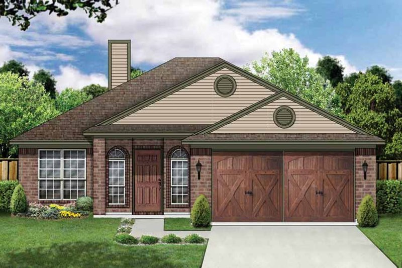 Traditional Exterior - Front Elevation Plan #84-675 - Houseplans.com