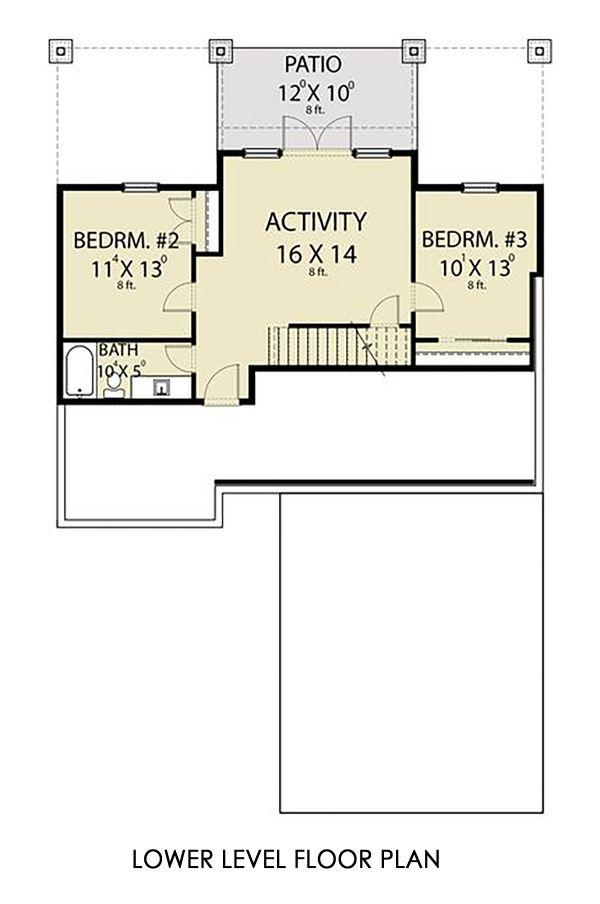 House Plan Design - Craftsman Floor Plan - Lower Floor Plan #1070-124