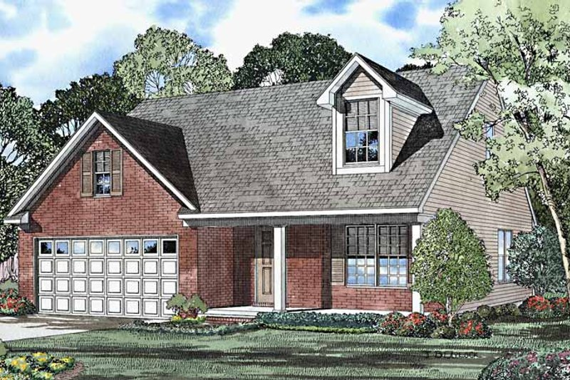 Country Exterior - Front Elevation Plan #17-3223 - Houseplans.com