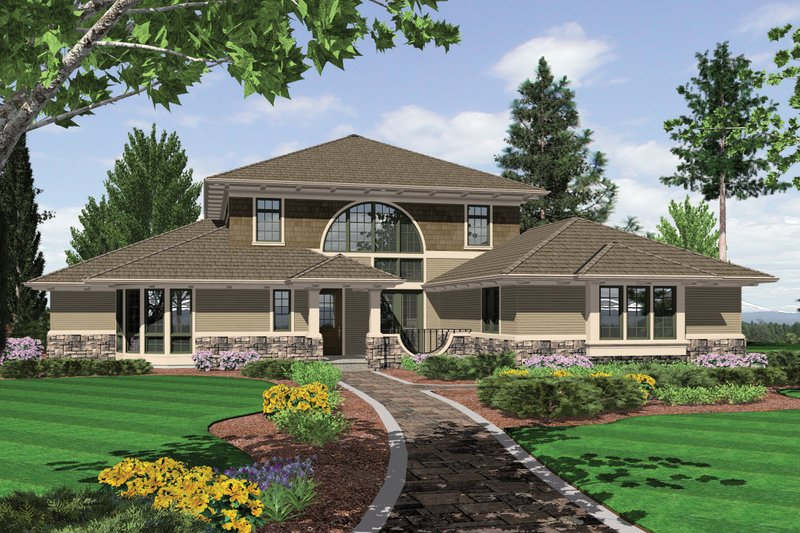 Home Plan - 3200 square foot 3 bedroom 3 and half contemporary house plan