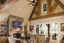 House Plan Design - European Interior - Family Room Plan #453-606