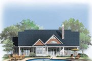 Craftsman Style House Plan - 3 Beds 3 Baths 1792 Sq/Ft Plan #929-332 Exterior - Rear Elevation