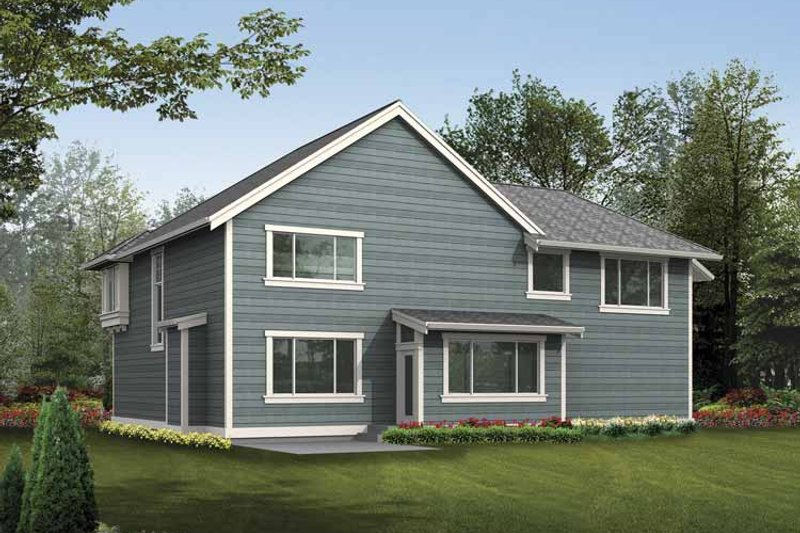 Prairie Exterior - Rear Elevation Plan #132-380 - Houseplans.com