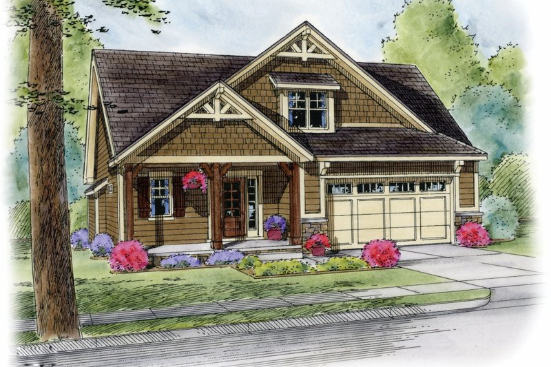 Craftsman Exterior - Front Elevation Plan #20-2188