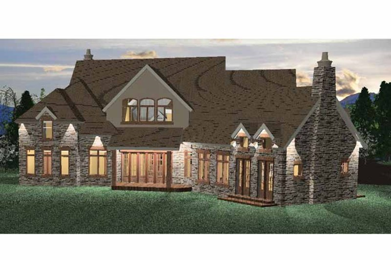 Country Exterior - Rear Elevation Plan #937-14 - Houseplans.com