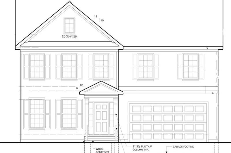 Colonial Exterior - Front Elevation Plan #1053-54 - Houseplans.com
