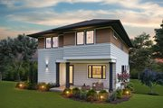 Contemporary Style House Plan - 3 Beds 2.5 Baths 2498 Sq/Ft Plan #48-991 Exterior - Rear Elevation