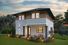 Contemporary Exterior - Rear Elevation Plan #48-991