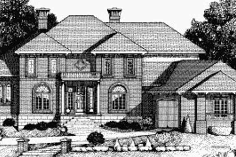 Traditional Exterior - Front Elevation Plan #20-1171 - Houseplans.com