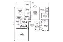 Craftsman Floor Plan - Main Floor Plan Plan #419-142