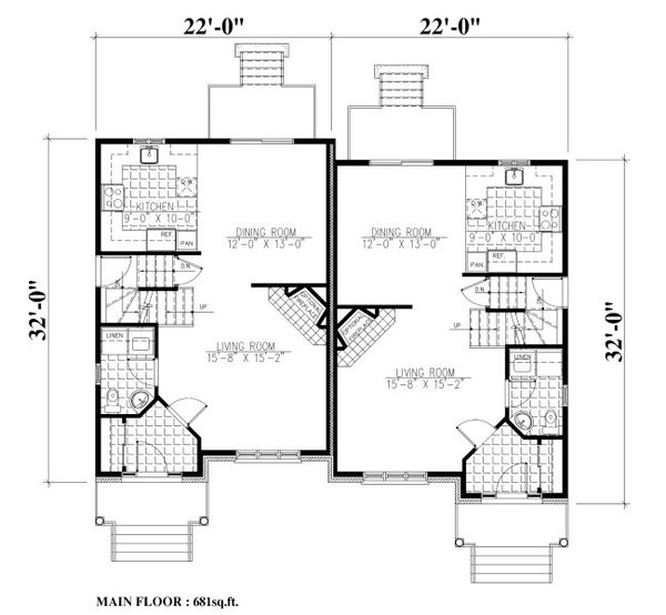 Traditional Floor Plan - Main Floor Plan Plan #138-350